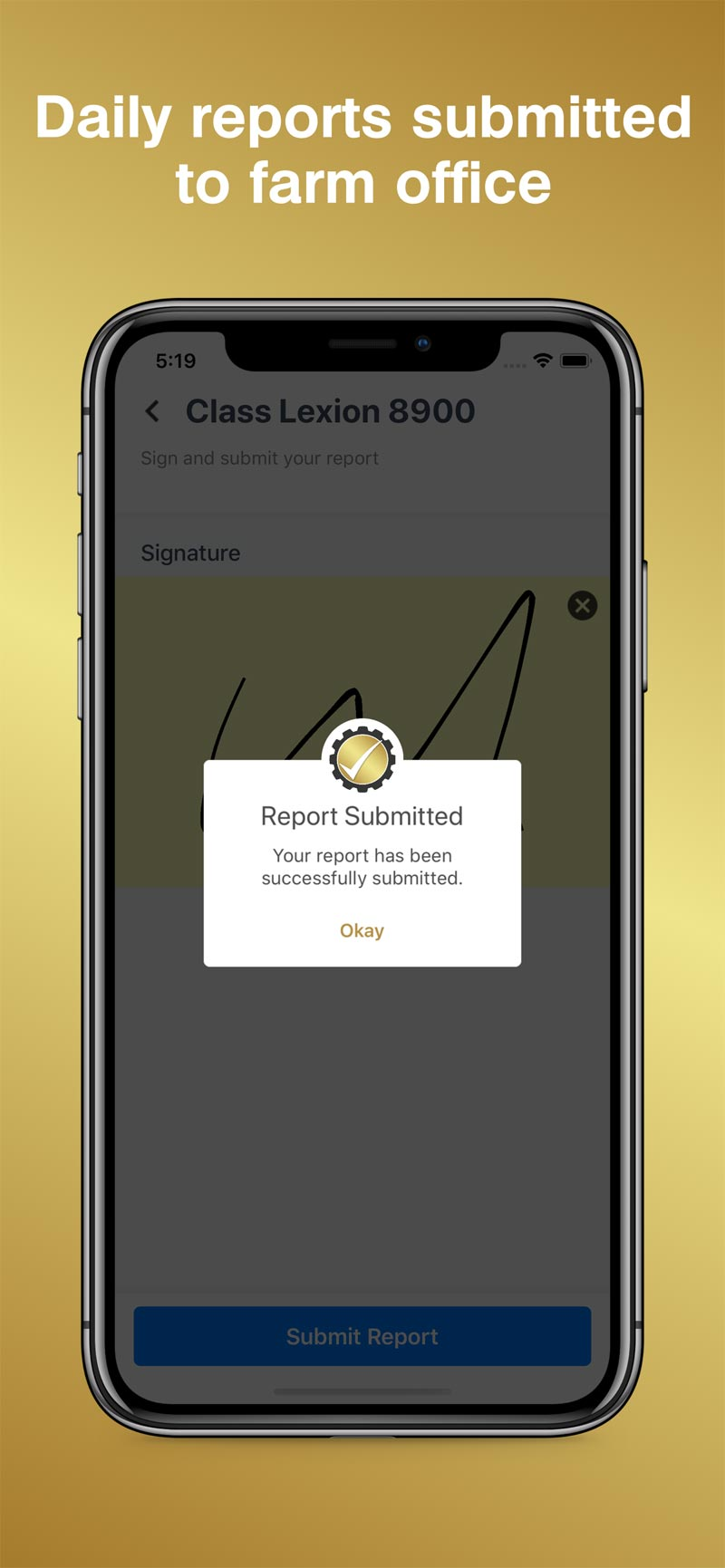 Merit AgCheck App Screenshot - Report Submit