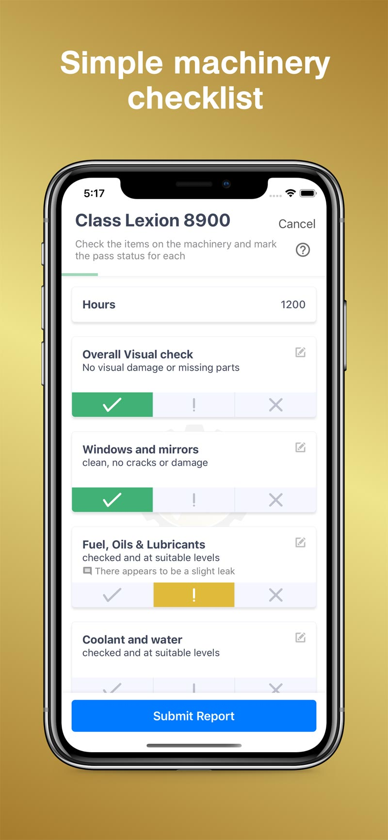 Merit AgCheck App Screenshot - Checklist